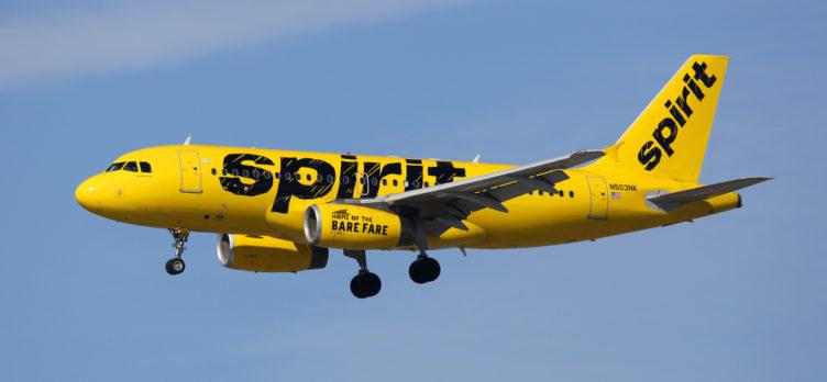 Spirit-Airlines-Plane-In-Flight-752x348